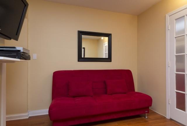 Living Room with Futon sofa