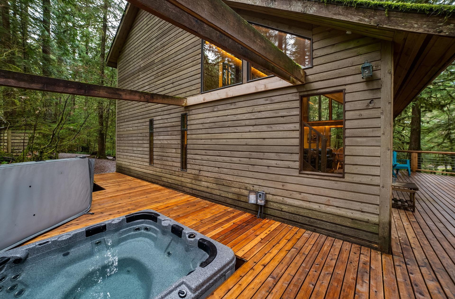 Apartment Mt  Baker Lodging Cabin  55 - HOT TUB  WOOD STOVE  BBQ  SLEEPS 10  photo 3998985